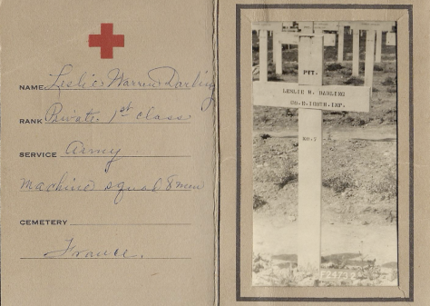 An American Red Cross Photograph of My Great-great Uncle's Grave in France