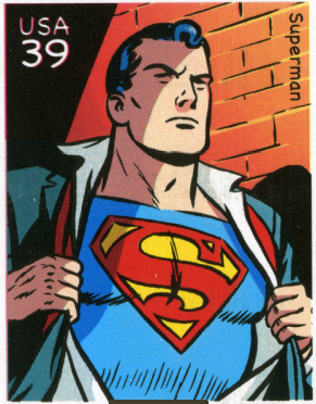 Superman postage stamp
