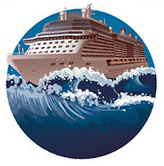 Cruise ship & waves