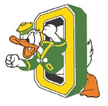 University of Oregon Donald Duck logo