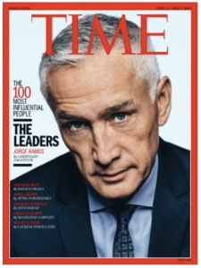 Jorge Ramos on the cover of TIME magazine