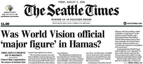 World Vision aid goes to Hamas?