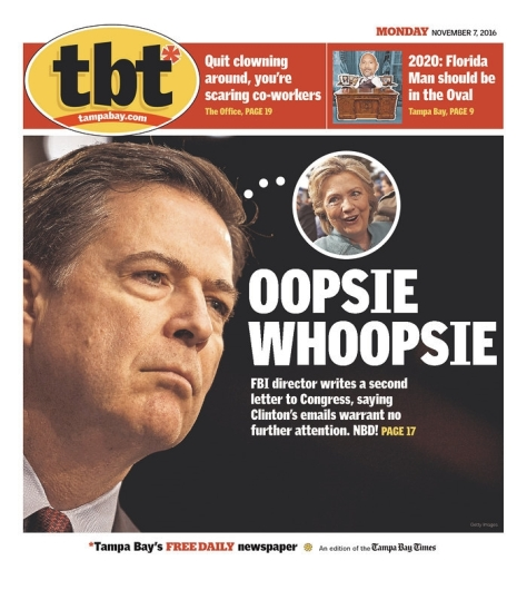 I am not a fan of James Comey, Mr. FBI.